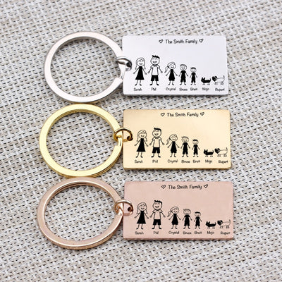 Incredible Customized Family Keychain!
