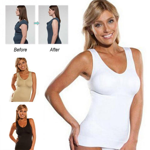 slimming waist trainer muffin top tire bellys bulge cami tank slimming tank top slimline slim