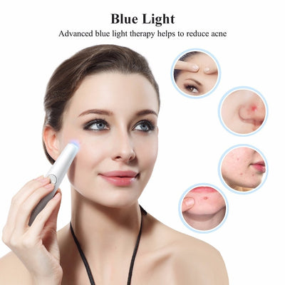 2in1 Red & Blue Laser Therapy Pen - For Wrinkles & Acne - Craftted