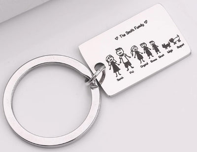 Incredible Customized Family Keychain! - Craftted
