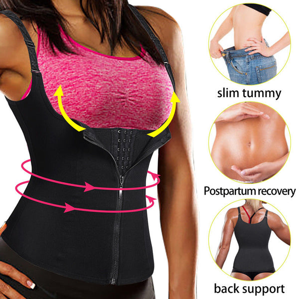 Incredible Waist Trainer! 2in1 Corset & Vest For DOUBLE Compression!