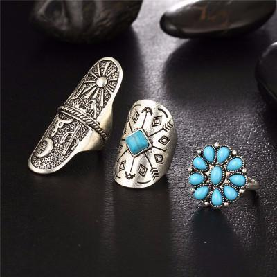 Bohemian 9 Piece Ring Set - Craftted