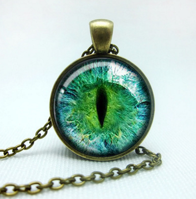 Cat's Eye Pendent - Gold & Silver Plated - Craftted