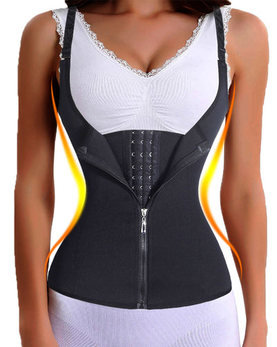 Incredible Waist Trainer! 2in1 Corset & Vest For DOUBLE Compression! - Craftted