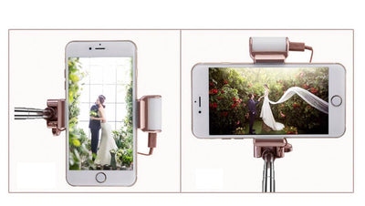 High Quality Aluminium Selfie Stick With Light - Craftted