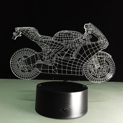 LED Motorcycle Night Light - with Remote Control - Craftted