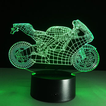 LED Motorcycle Night Light - with Remote Control-Night Lights-Craftted