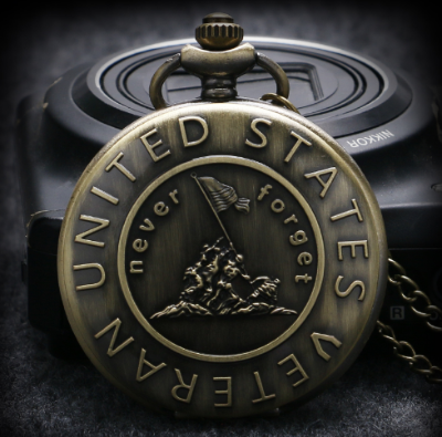Never Forget Veterans Pocket Watch - Craftted