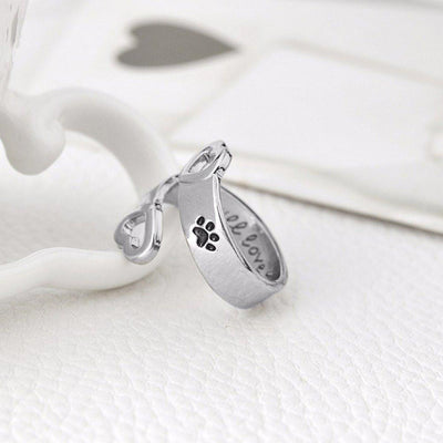 Paw Prints Ring - I Will Love You Forever - Craftted