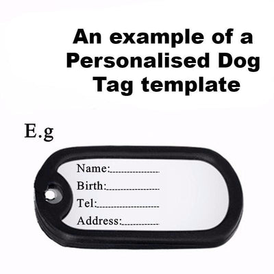 Personalise Your Own Soldier Tags - Craftted