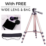 Portable Tripod For Smartphone & Camera With FREE Wide Lens-Portable Tripod For Smartphone & Camera With FREE Wide Lens-Craftted