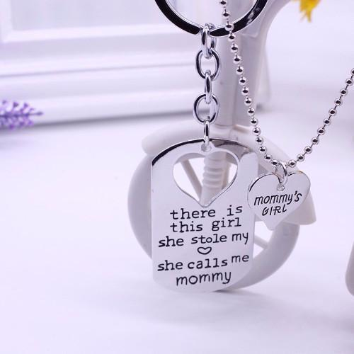 Proud mommy necklace key chain craftted proud mommy necklace key chain aloadofball Choice Image