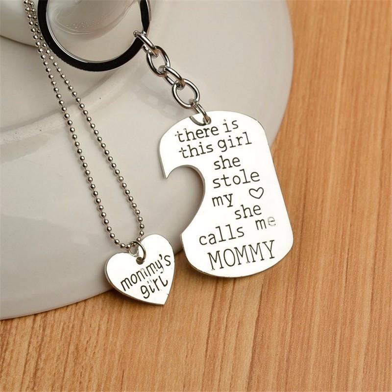 Proud mommy necklace key chain craftted aloadofball Gallery