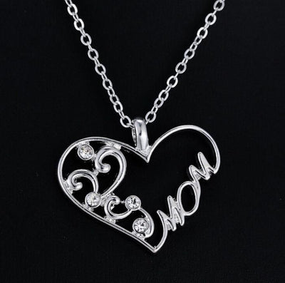 Silver Mom Script Pendant - Craftted