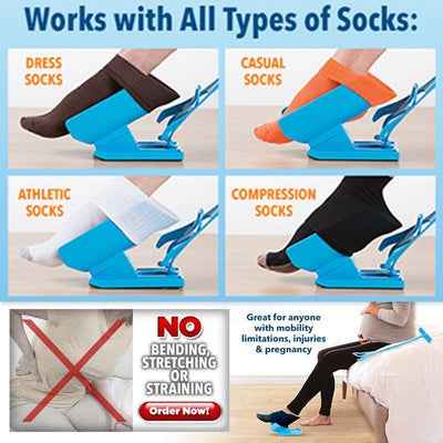 Sock Slider Aid Kit  | Pain Free! No Bending or Stretching - Craftted