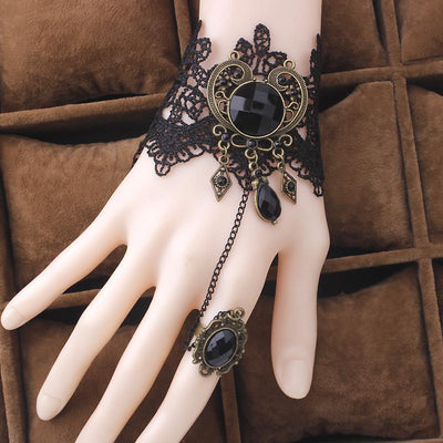 Vintage Gothic Bracelet & Ring - Craftted