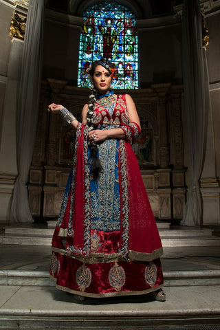 woman-wearing-indian-wedding-suit