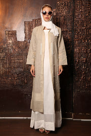 Pearl Coat Linen dress
