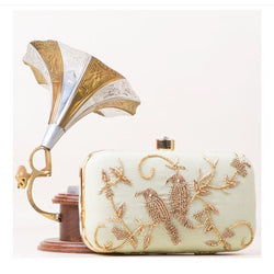Bird Sequin Clutch Purse