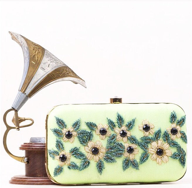 Lime Blossom Clutch Purse