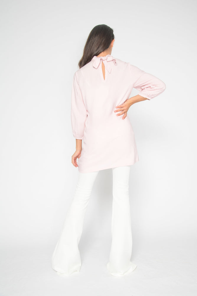 Pink Teresa Bias Collar Top