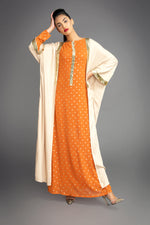 Polka Orange Maxi Coat