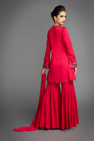 Raspberry Gharara Suit