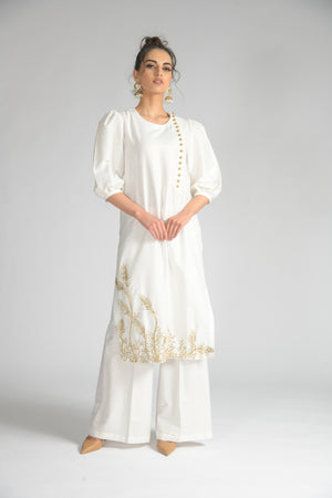 Palm Leaf Long Tunic