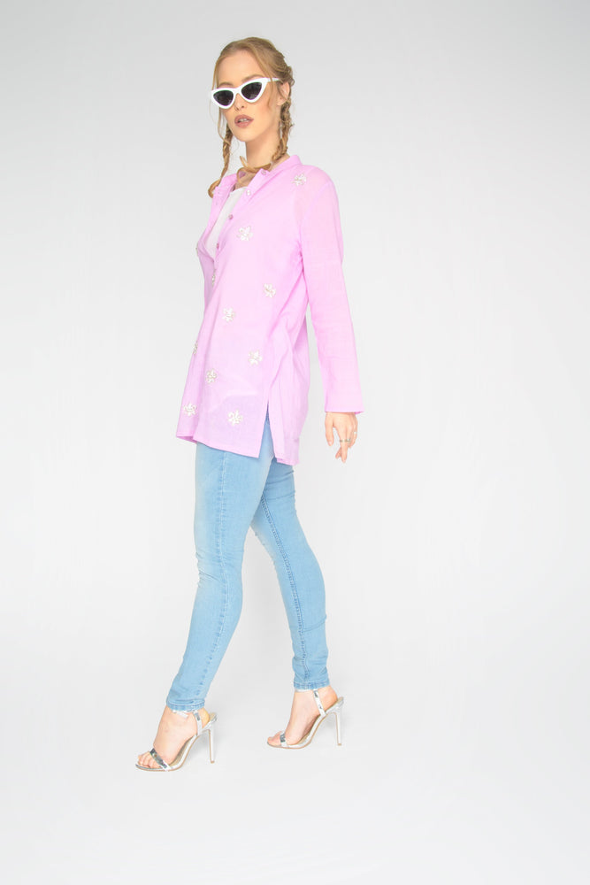 Pink Elsa Straight Sleeve Top