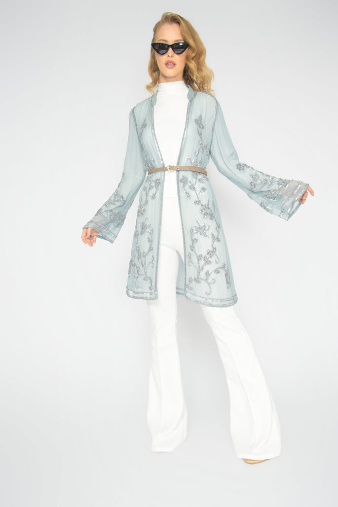 Blue Therapy Lace Trim Jacket