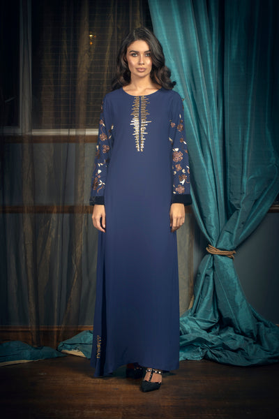 Navy Blue Poppy Maxi