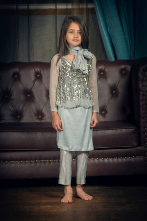 Kids Grey Suit