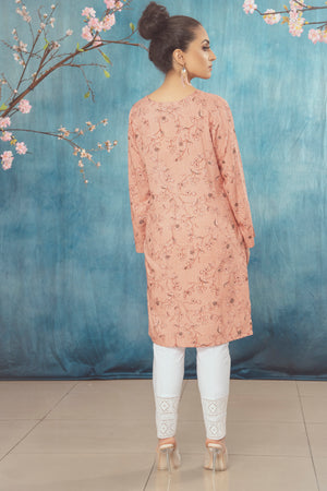 Peach Sequin Kurta
