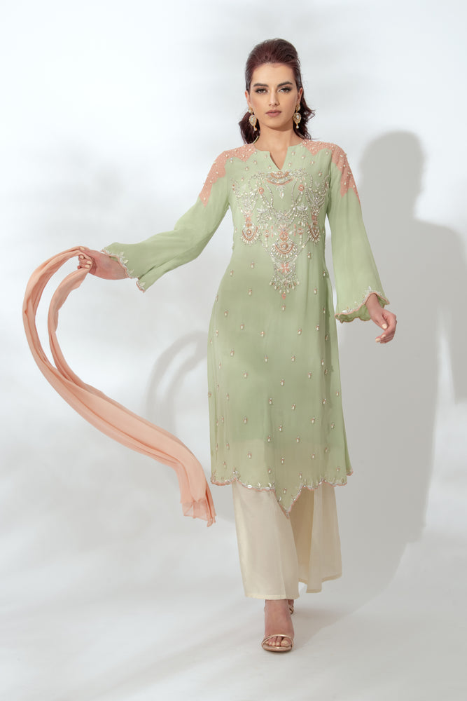 Mehak Green Dress