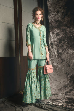 Box Pleat Sharara dress