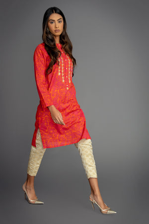 Orange Damask Suit