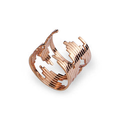 Majune Ring Bel-Air 925 Sterling Silber 18K Rosegold plattiert