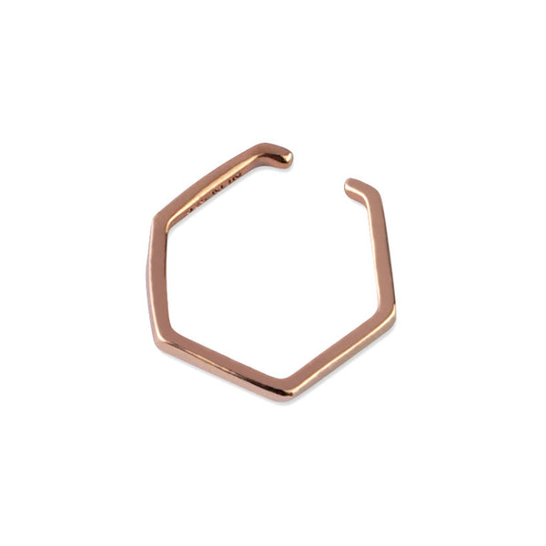 Majune Ring Humble 925 Sterling Silver 18K Roségold plattiert
