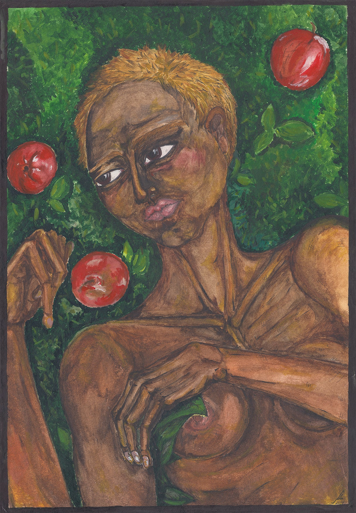 Nude Among Apples