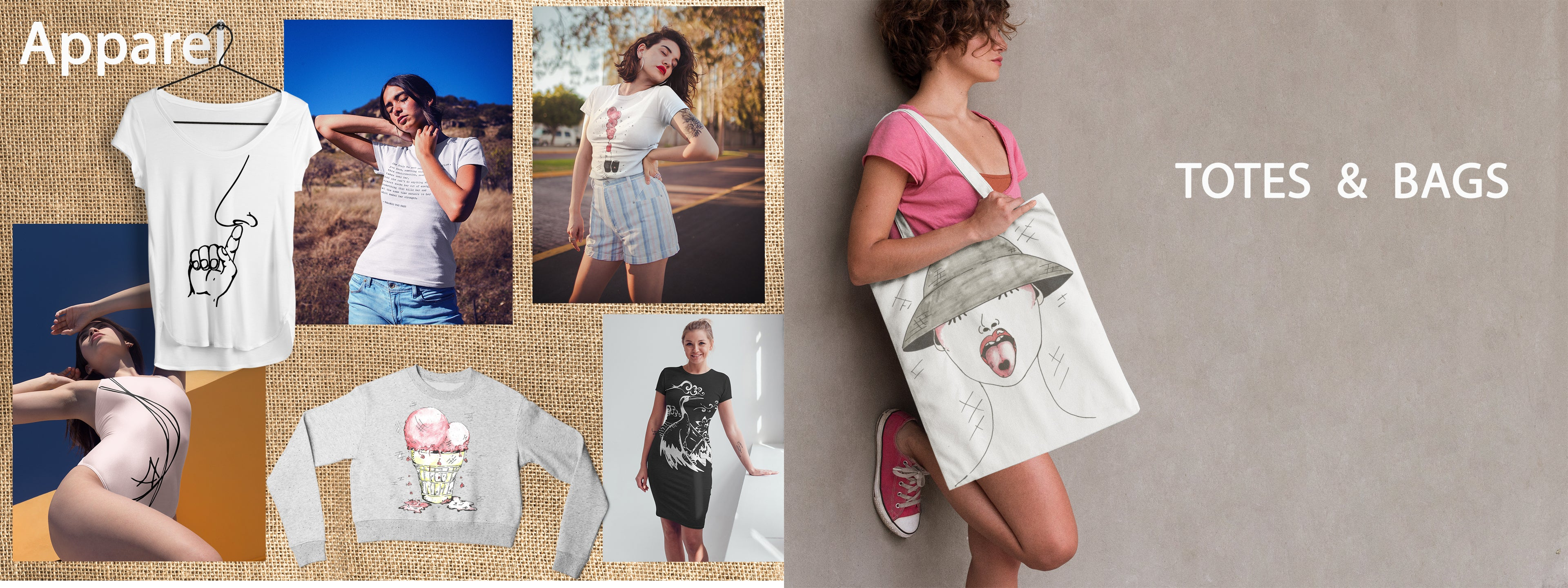 Apparel and Totes & Bags