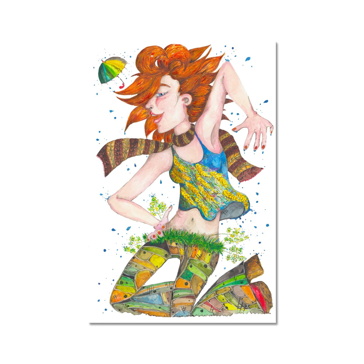 Dancing Girl Art Print