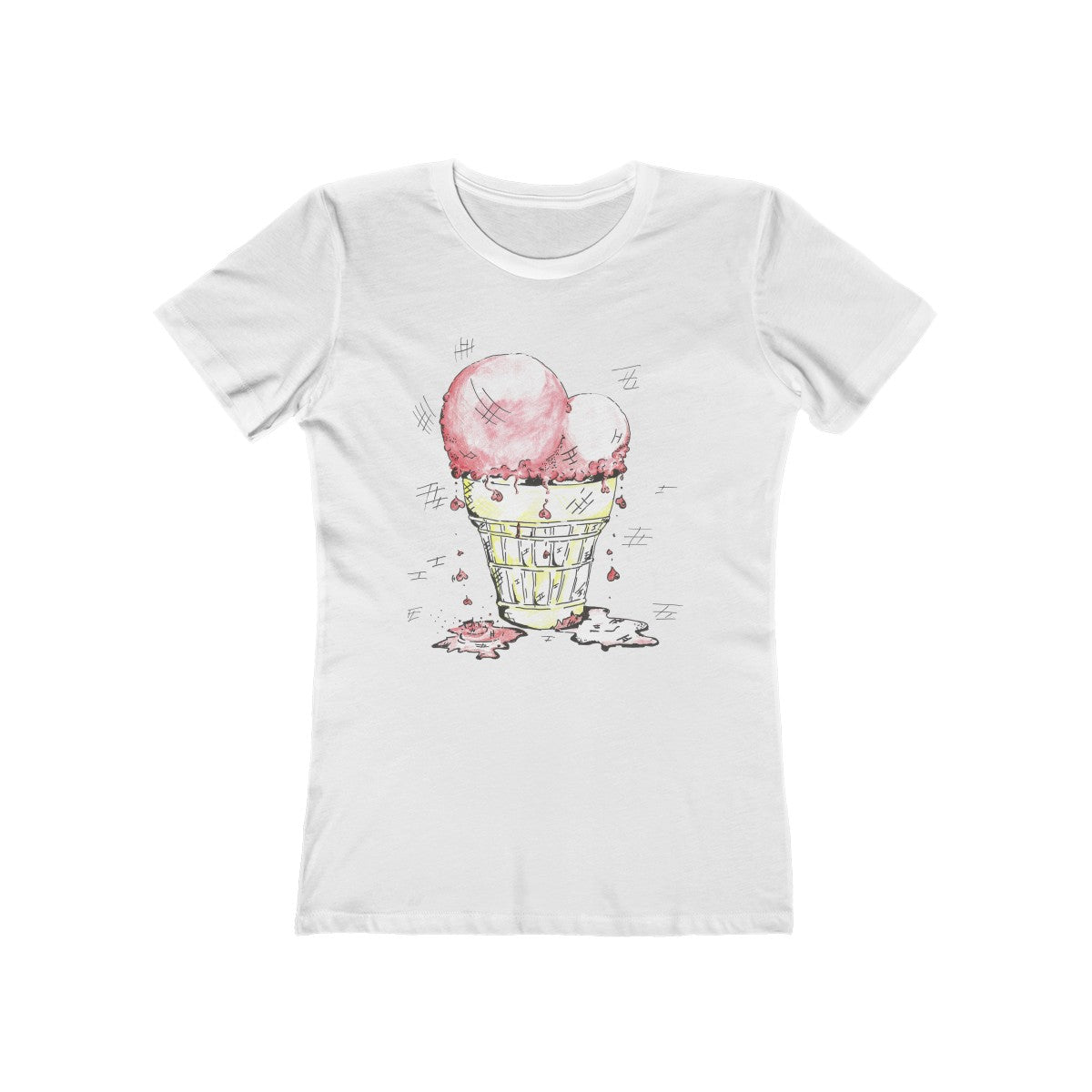 Ice Cream Heart Boyfriend Tee