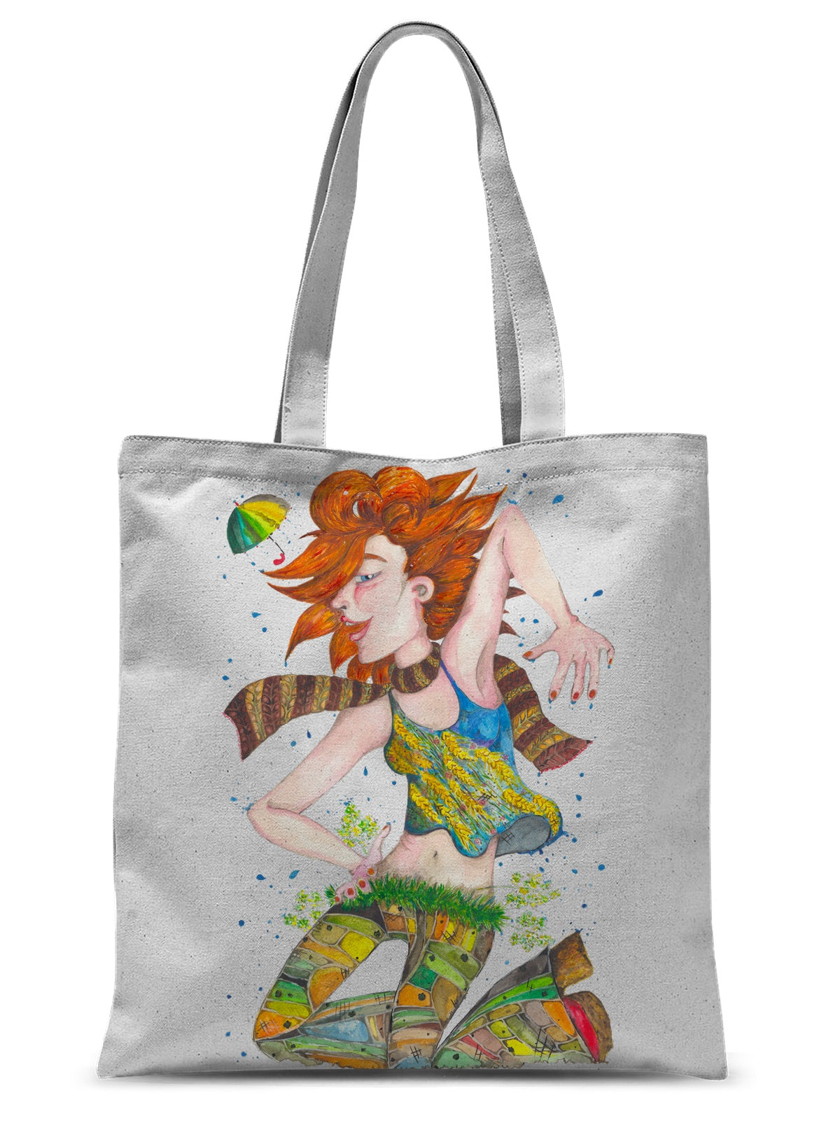 Rain Girl Sublimation Tote Bag