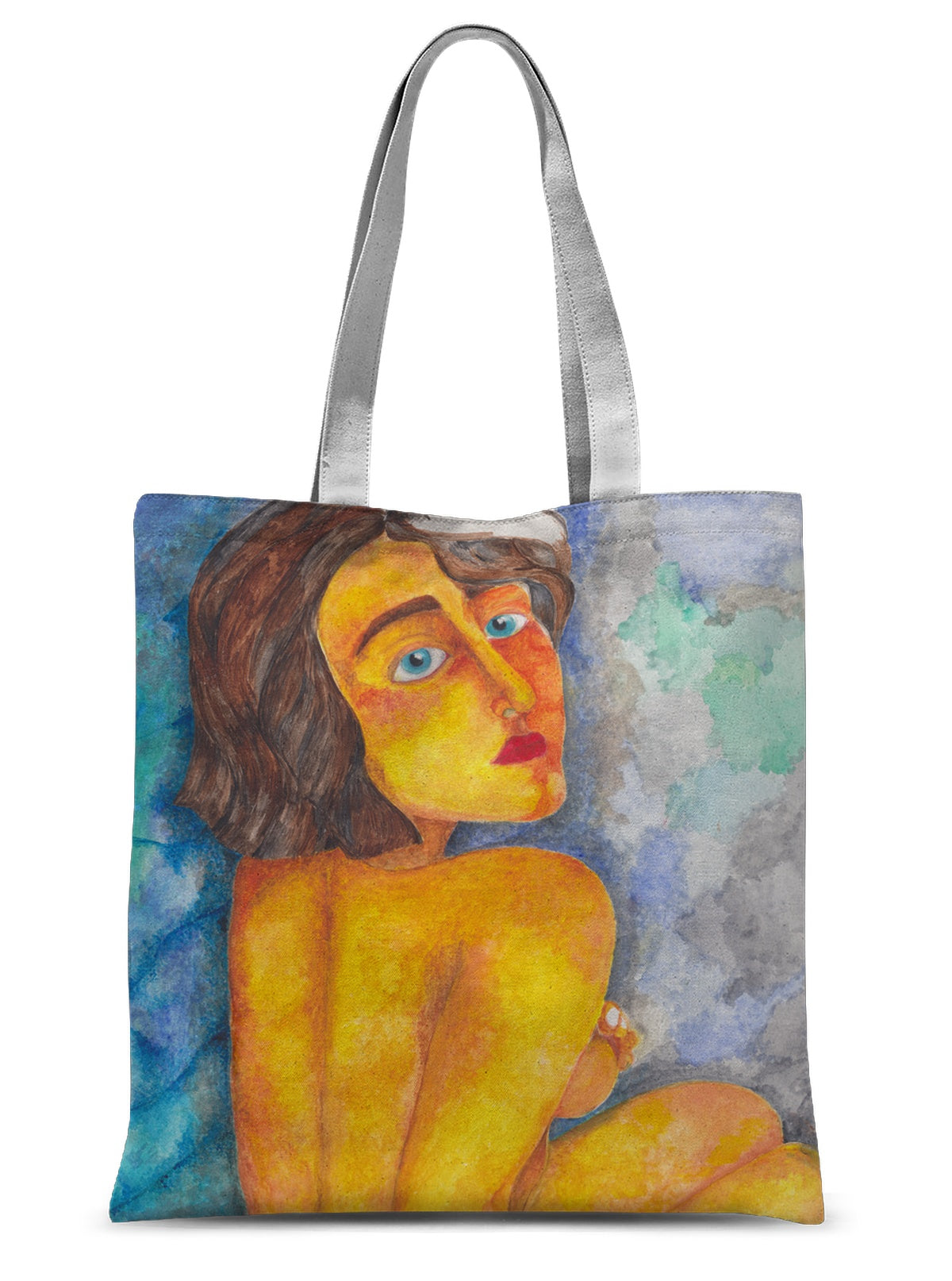 Glancing Girl Sublimation Tote Bag
