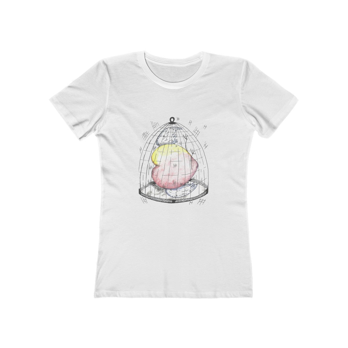 Caged Heart Boyfriend Tee