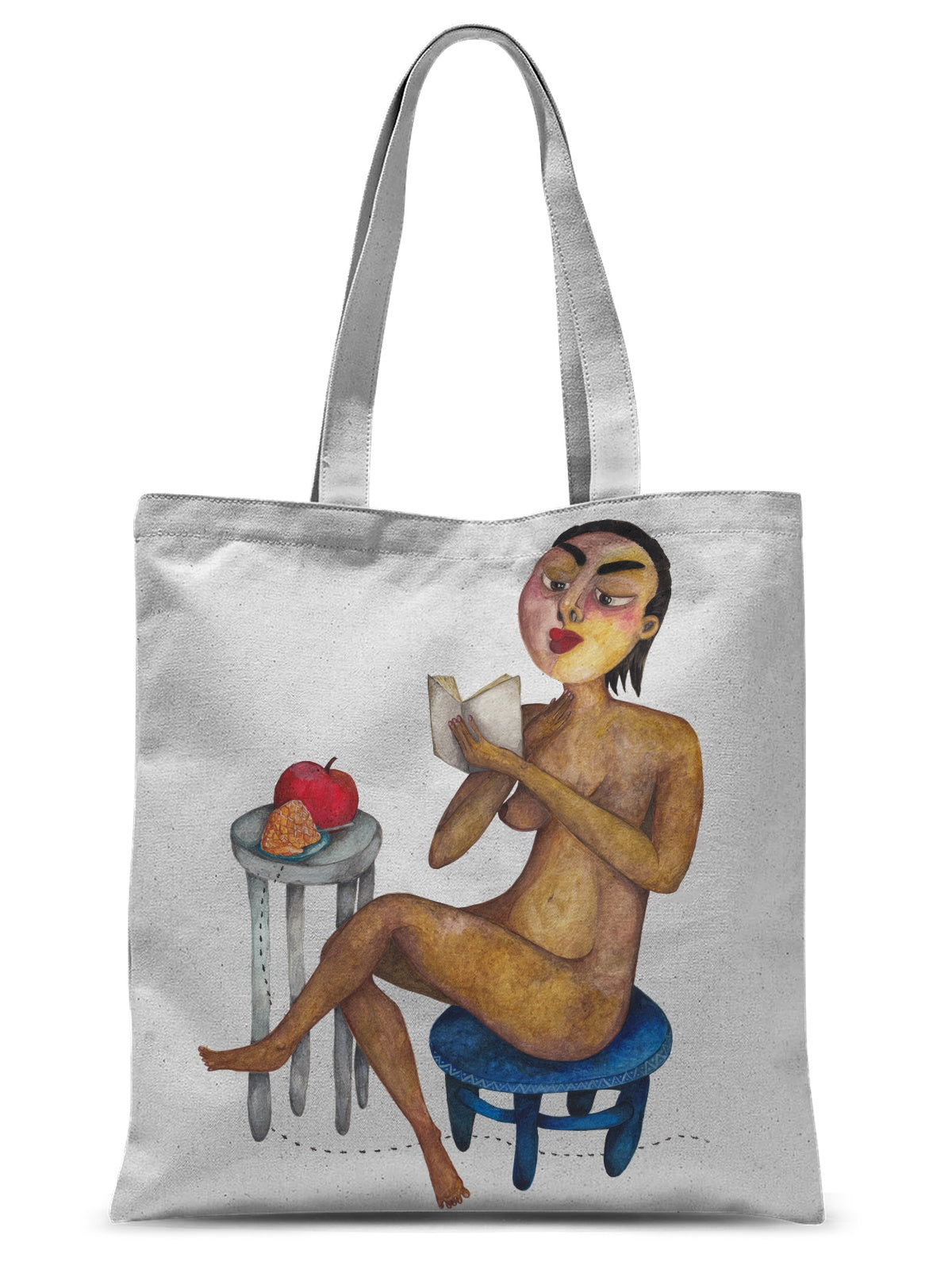 Reading Girl Sublimation Tote Bag