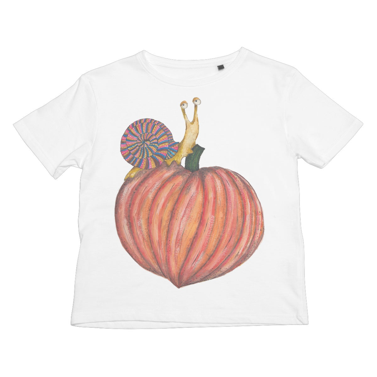 The Snail on Pumpkin Children's Tee