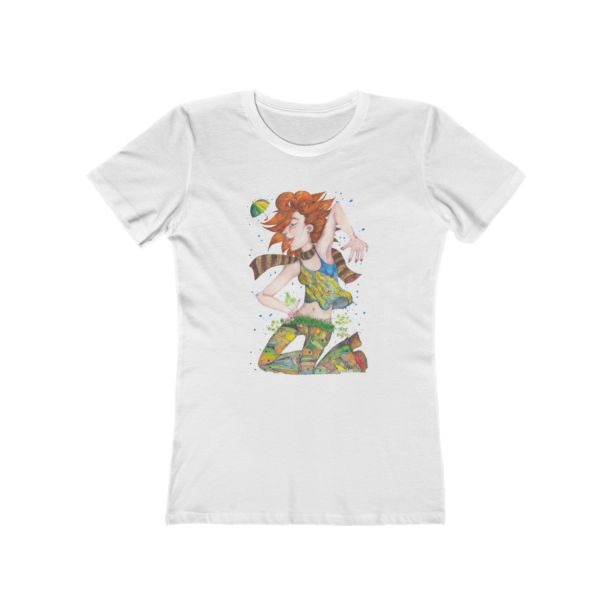Dancing Girl - Boyfriend Tee