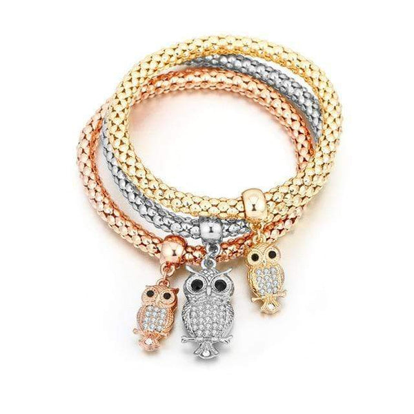 Catrina Three Piece Tree of Life Bracelets Jewelry Owl Style at Fashions Queen