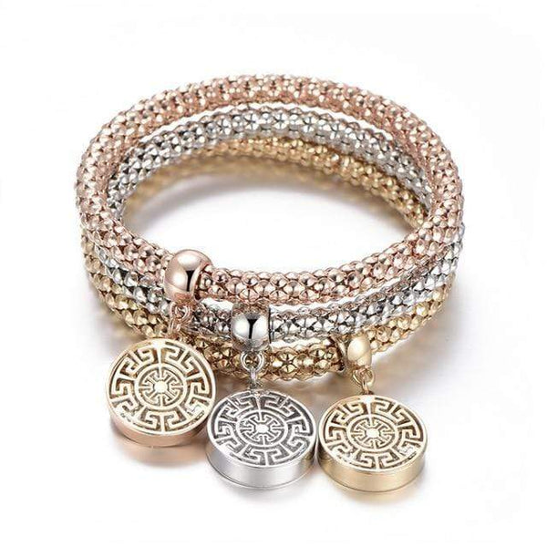 Catrina Three Piece Tree of Life Bracelets Jewelry Round Geometry at Fashions Queen